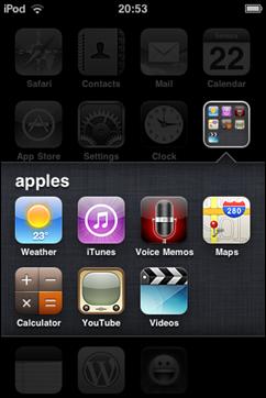"tampilan ""folder"" ketika sedang dibuat"